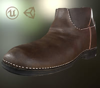 3D model leather half boot
