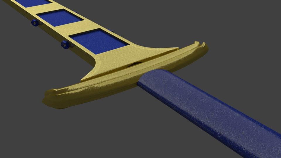 3D sword normal sheath