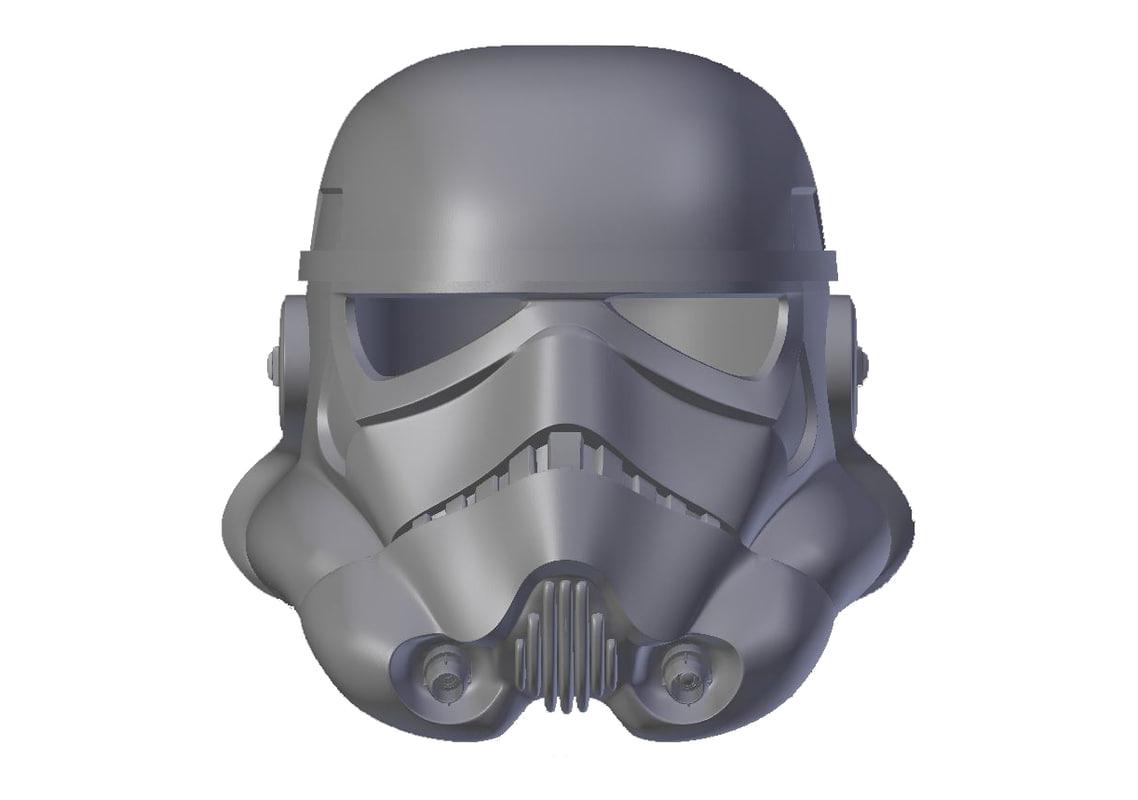 3D stormtrooper helmet anh print