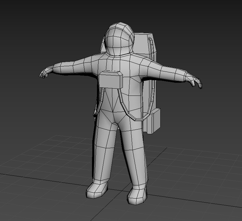 3D astronaut apollo model