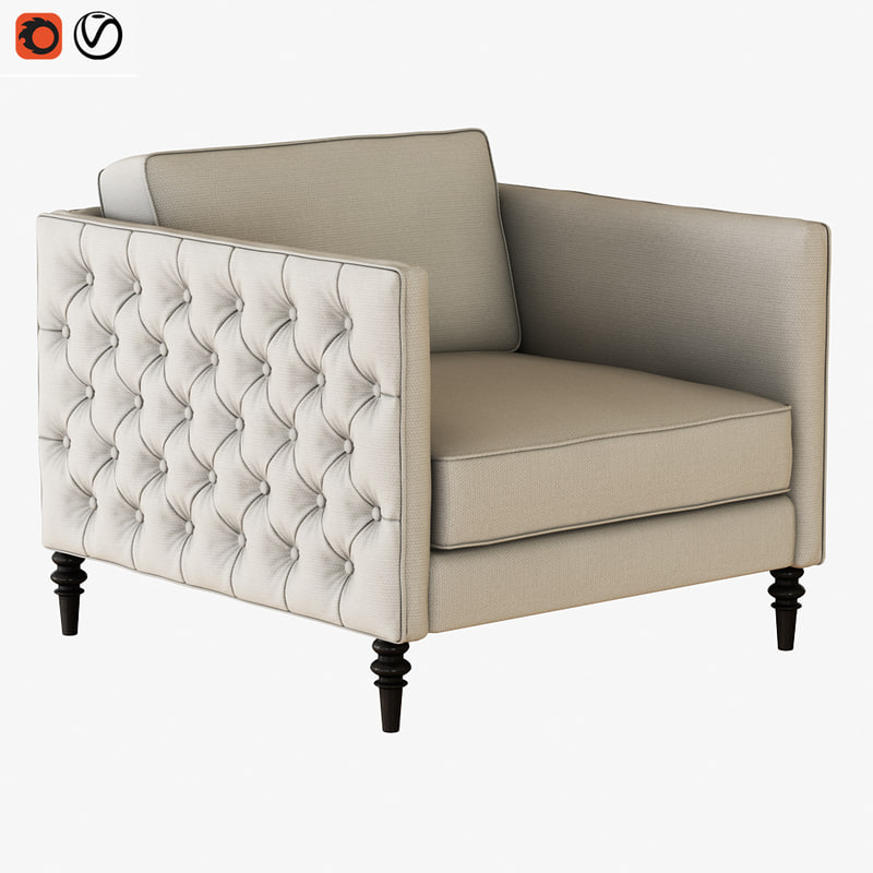 3D armchair winston sofa chair model