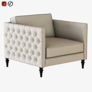 3D armchair winston sofa chair model