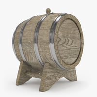 3D model barrel oak