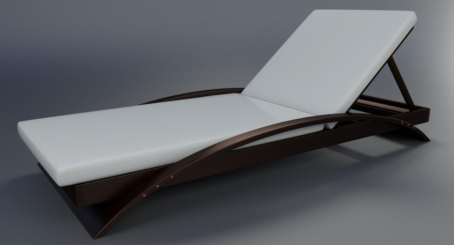 ... Pool Lounge Chair 3D Model ...