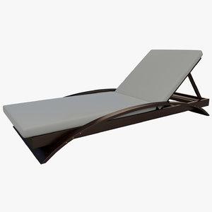pool lounge chair 3D model