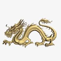 3D dragon relief model