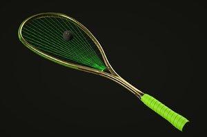 3D model squash racket