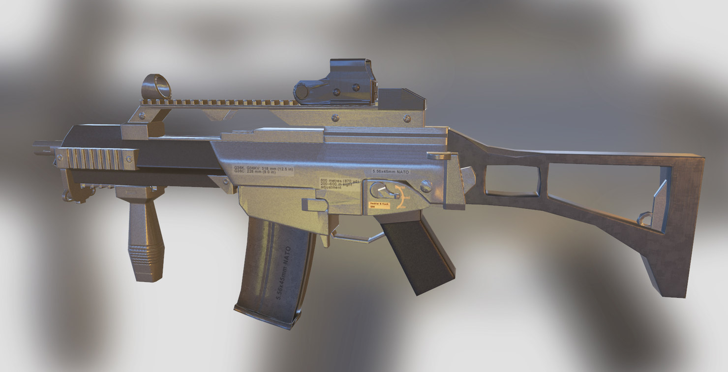 3D g-36 gun model