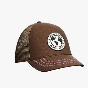 baseball hat 12 3D