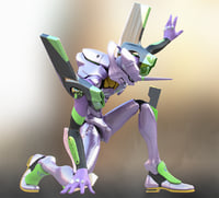3D evangelions modeled