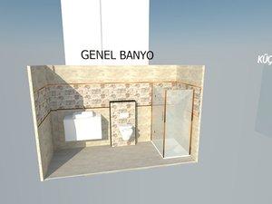 bathroom design sketchup model