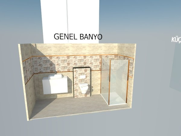 bathroom design sketchup model
