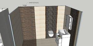 3D model design bathroom