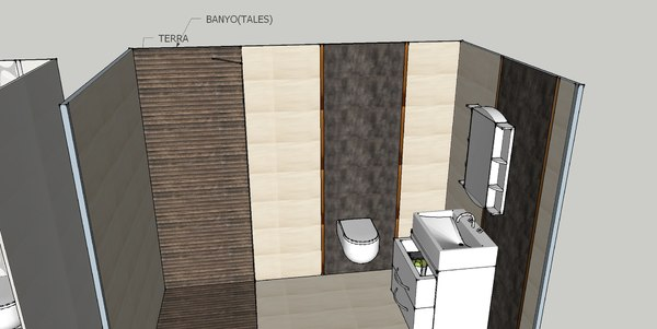 3D model design bathroom