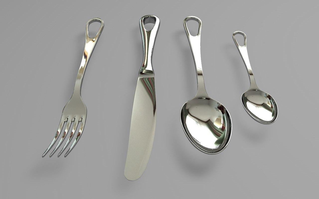 3D fork knife