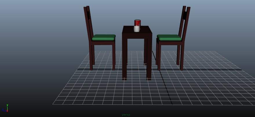 chair table 3D