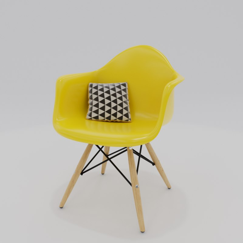 chair charles eames 3D model