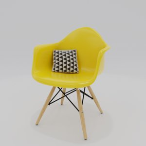 chair charles eames 3D model