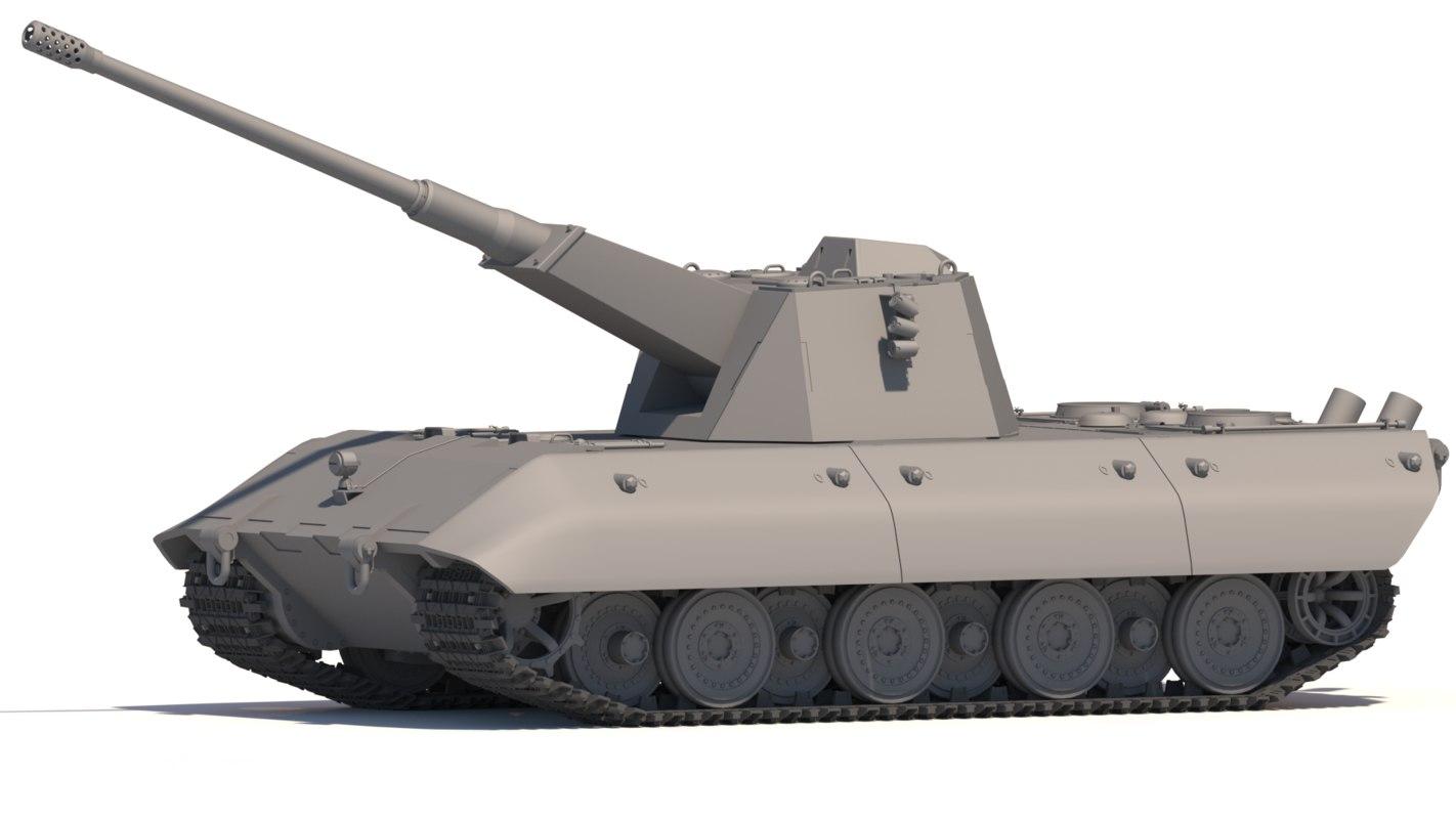 3D e-100 105 flak model