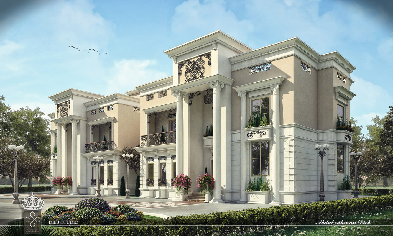 3d new classic villa b10 model turbosquid 1171488 for Classic villa exterior design
