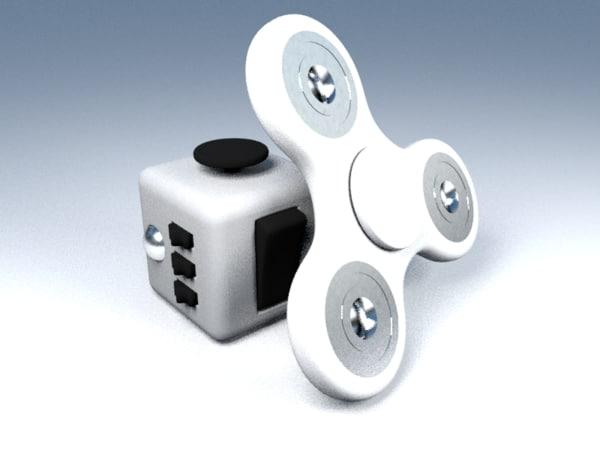 spinner fidget cube model