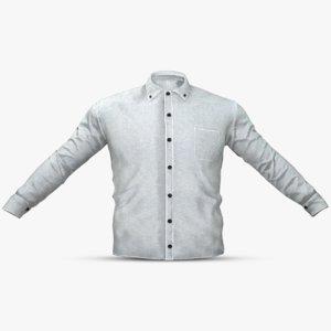 white shirt 3D model