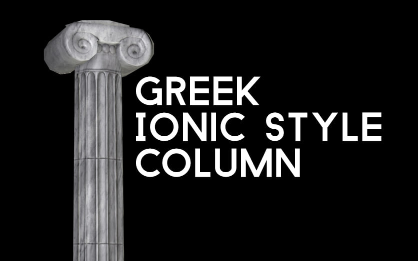 3D ancient greek ionic column