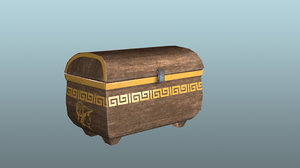 grecian chest animation 3D model