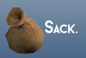 burlap sack 3D model