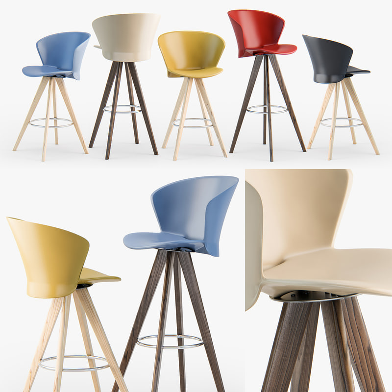 3D calligaris bahia w stool model