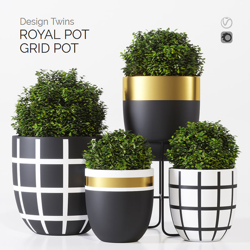 3D model designtwins pot design twins