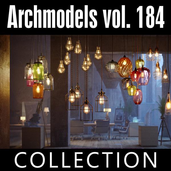 archmodels vol 184 lamps 3D