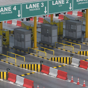 3D toll plaza