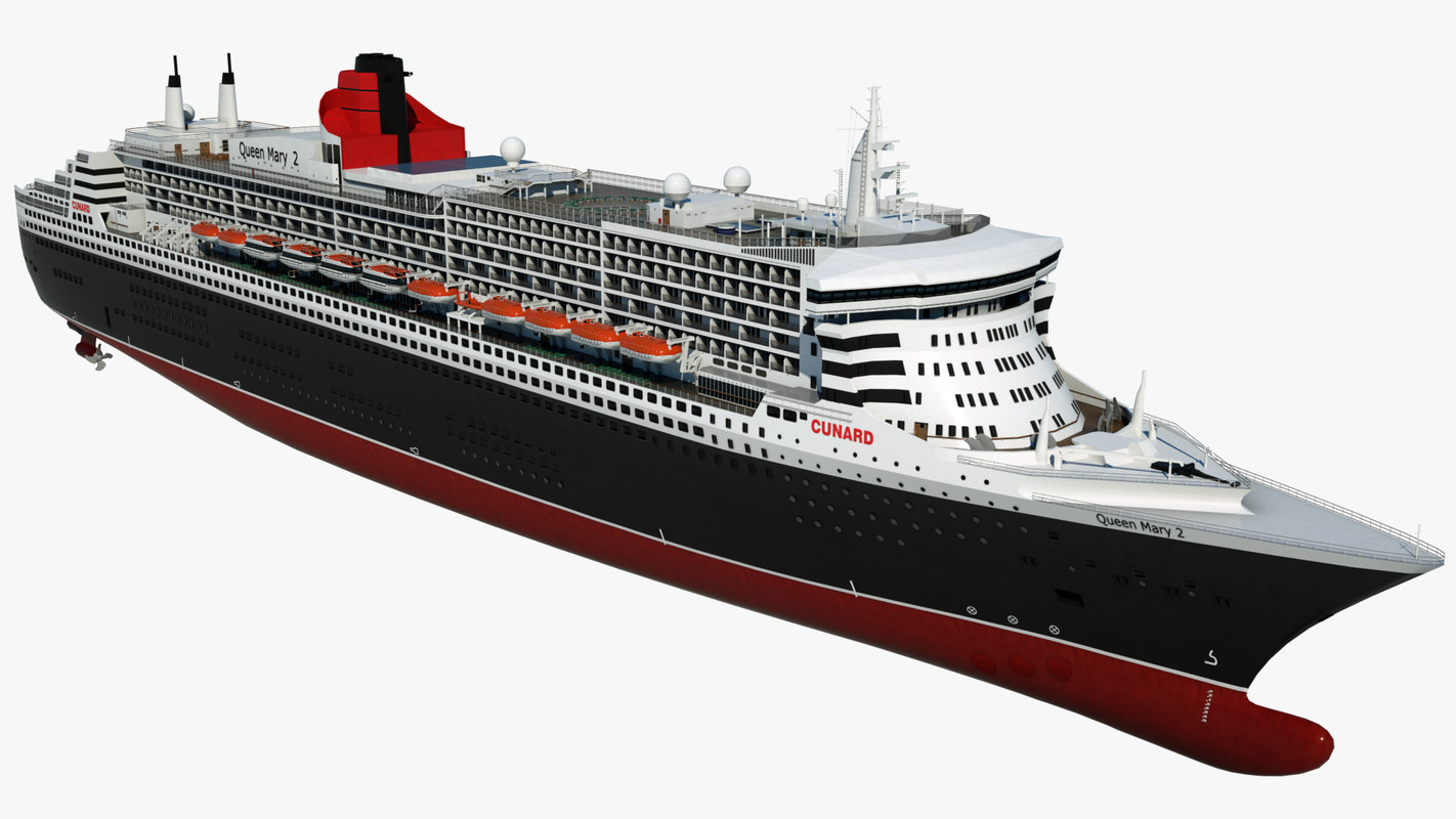 cruise queen mary 2 model