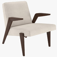 3D gisele wood chair mid-century