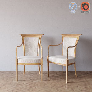 selva bellagio armchair 1530 3D model