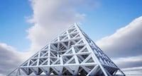 3D futuristic building model