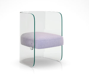 glass chair louis model