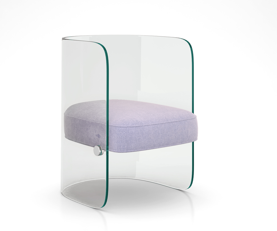 glass chair louis model