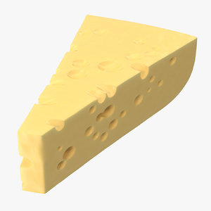 3D swiss cheese piece model