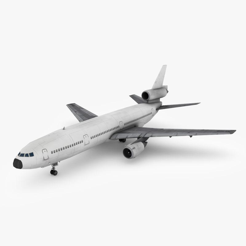 mcdonnell douglas dc-10 3D model