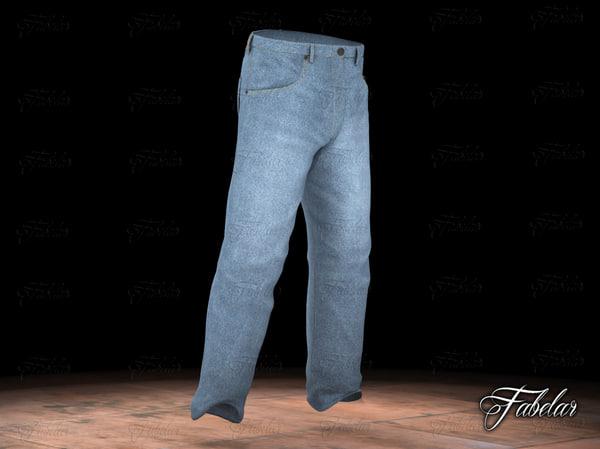 blue jeans 3D model