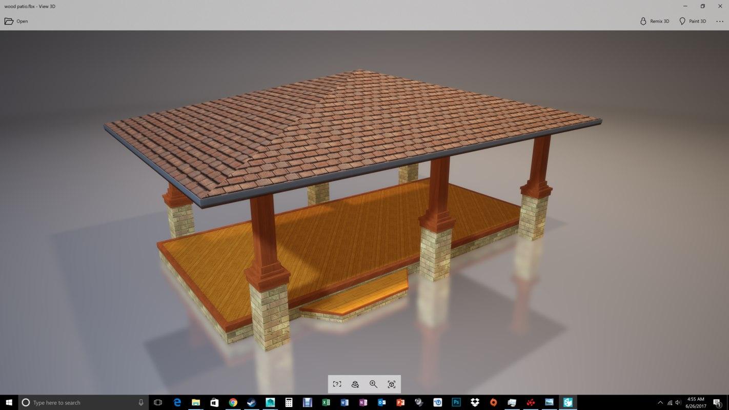 3D set patio model