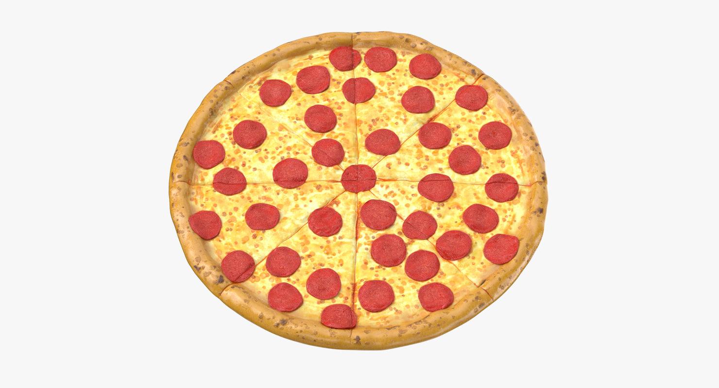 pizza pepperoni 3D