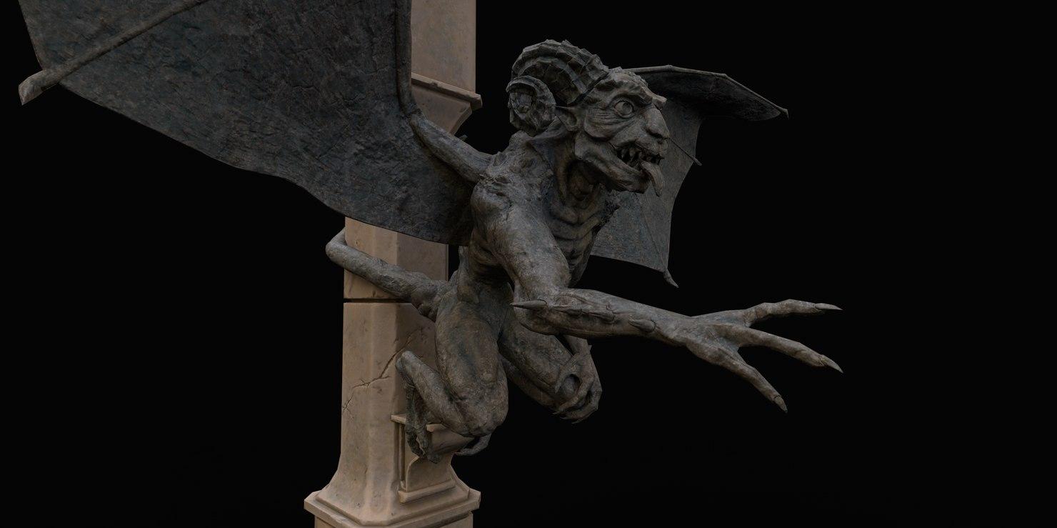 3D demon gargoyle model
