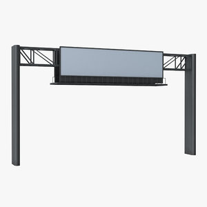 billboard 4 grey 3D model