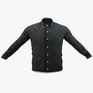 black shirt 3D model