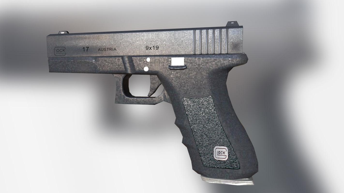 3D model glock gun