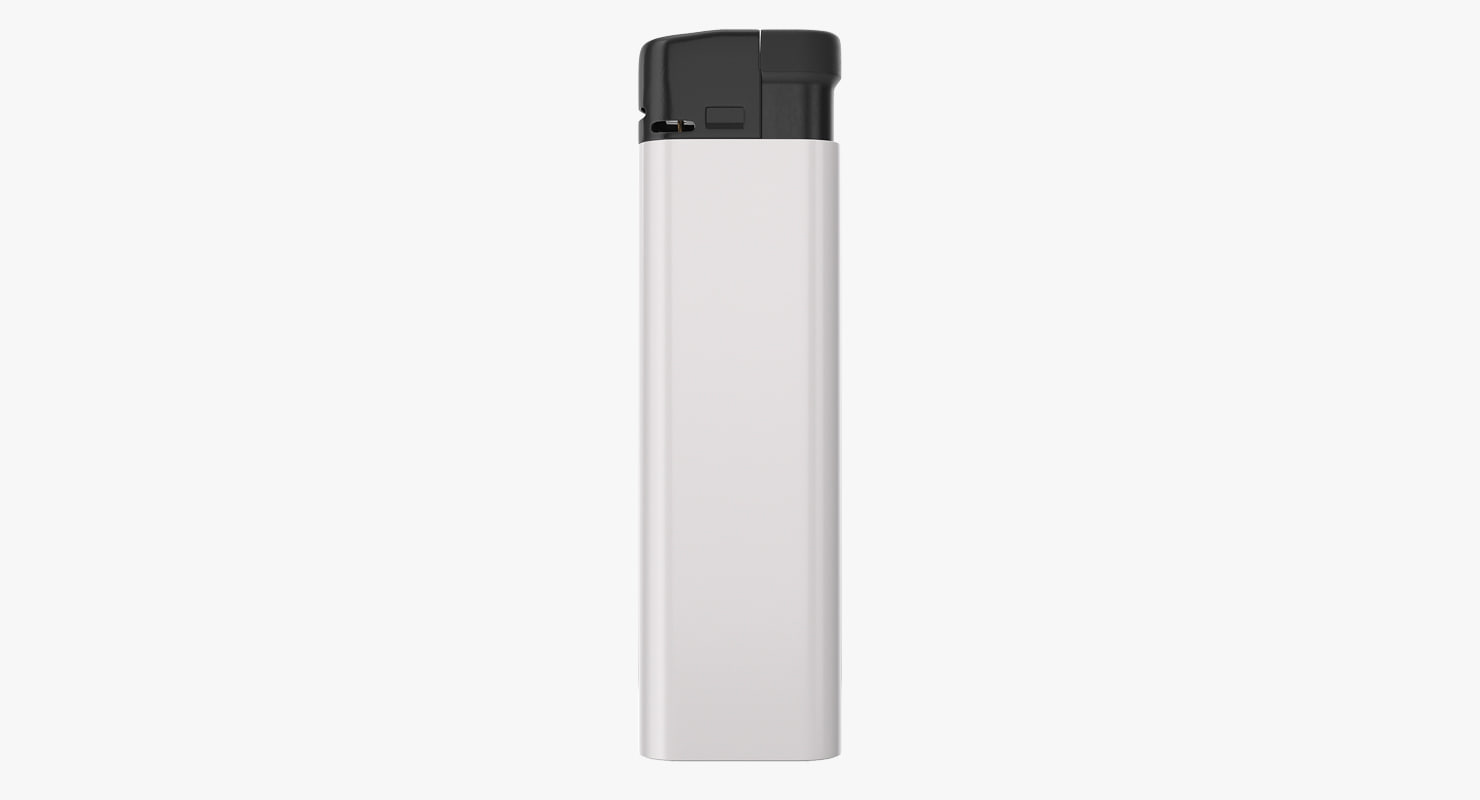 white lighter generic 3D model