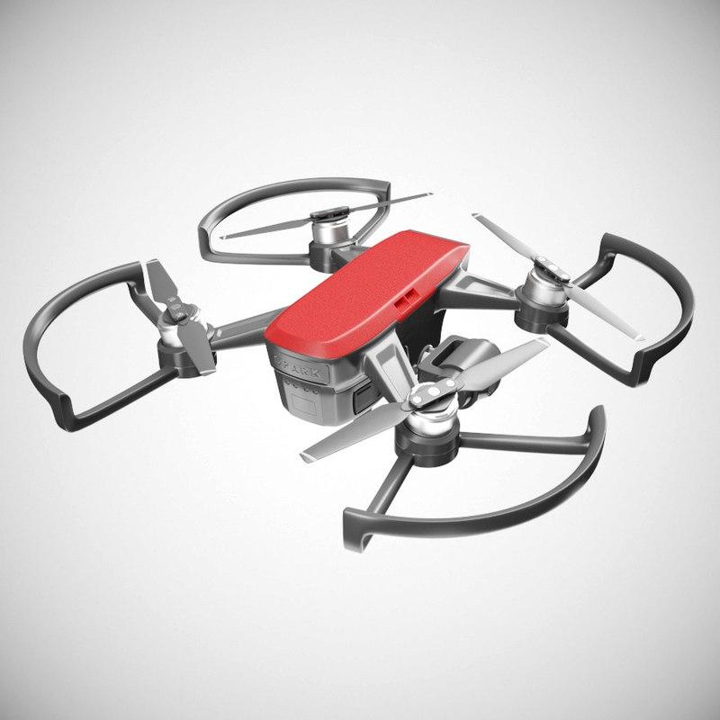 3D dji spark drone model